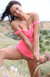 Lusee Strips Her Little Pink Dress