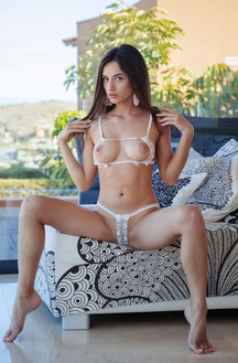 Gloria Sol Wearing Lace Lingerie