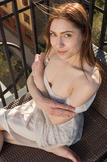 Lena Raz Toying Outdoors