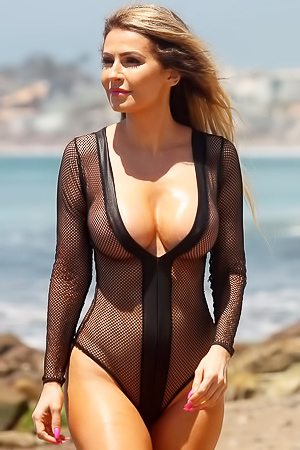 Ana Braga Shows Boobs And Ass In Sexy Swimsuit