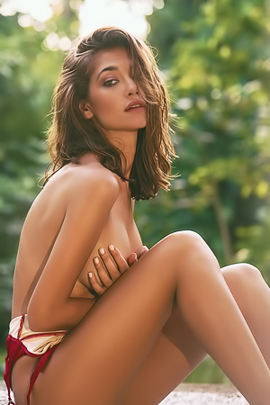 Raluca Cojocaru Getting Naked In Paradise