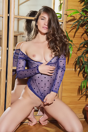 Myla Beautiful And Hot Girl In Blue Lingerie