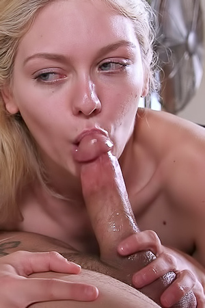 Adorable Blonde Allie Rae and Her Ex Stud